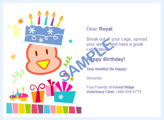 Epethealth Birthday Card Samples