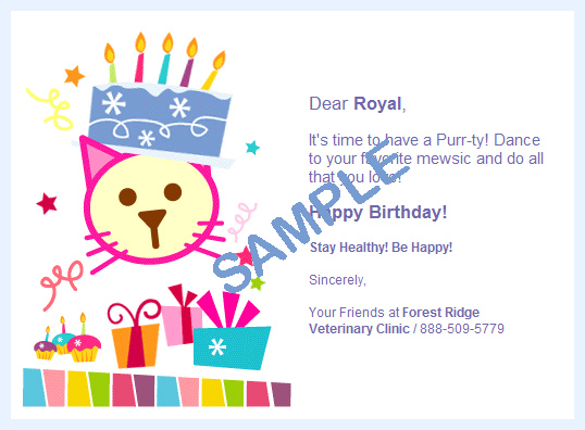 sample of birthday card