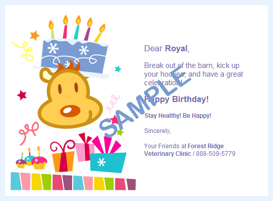 ePetHealth Birthday Card Samples – Birthday Card Sample
